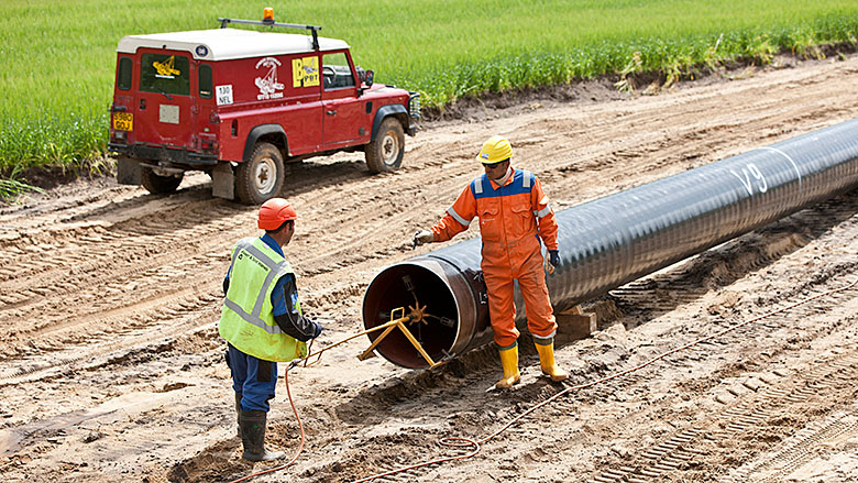 Gaspipe laying