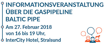 Public hearings to be held in Germany - February 27, 2018 between 4 PM and 7 PM 16:00 – 19.00 in Stralsund, Germany, InterCity Hotel