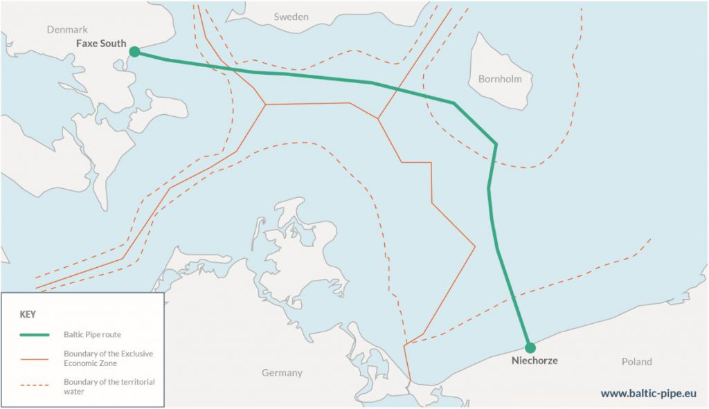 The Baltic Sea offshore pipeline - Baltic Pipe Project